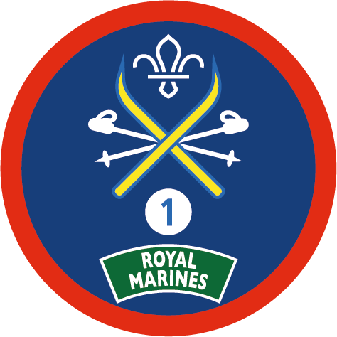 Snowsports Staged badge sponsored by Royal Marines