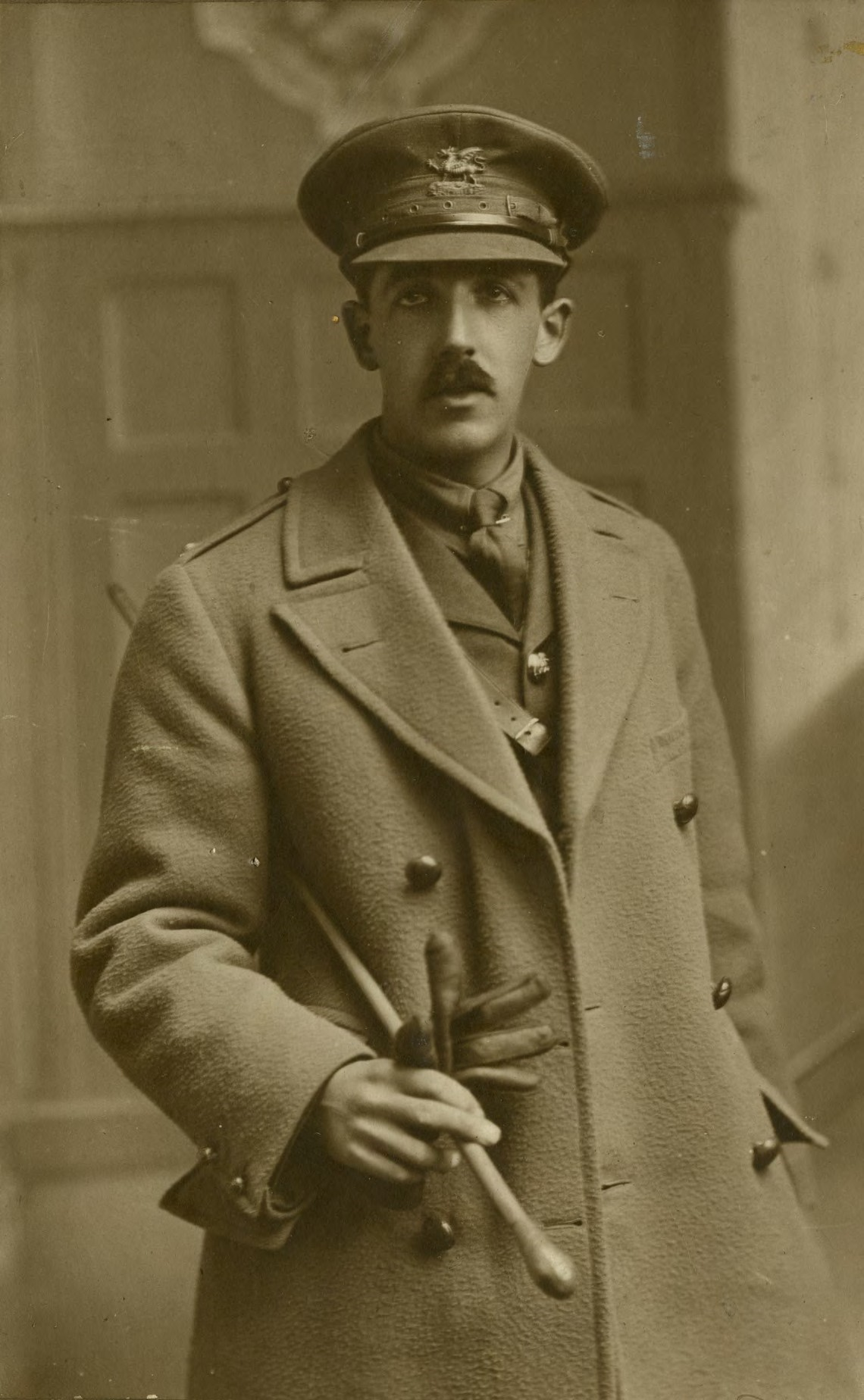 A photograph of Scout and painter Ernest Stafford Carlos.