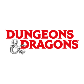 The Dungeons & Dragons logo in a white circle.