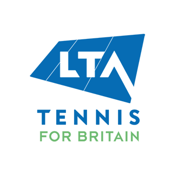 The LTA Tennis for Britain logo set inside a white circle.