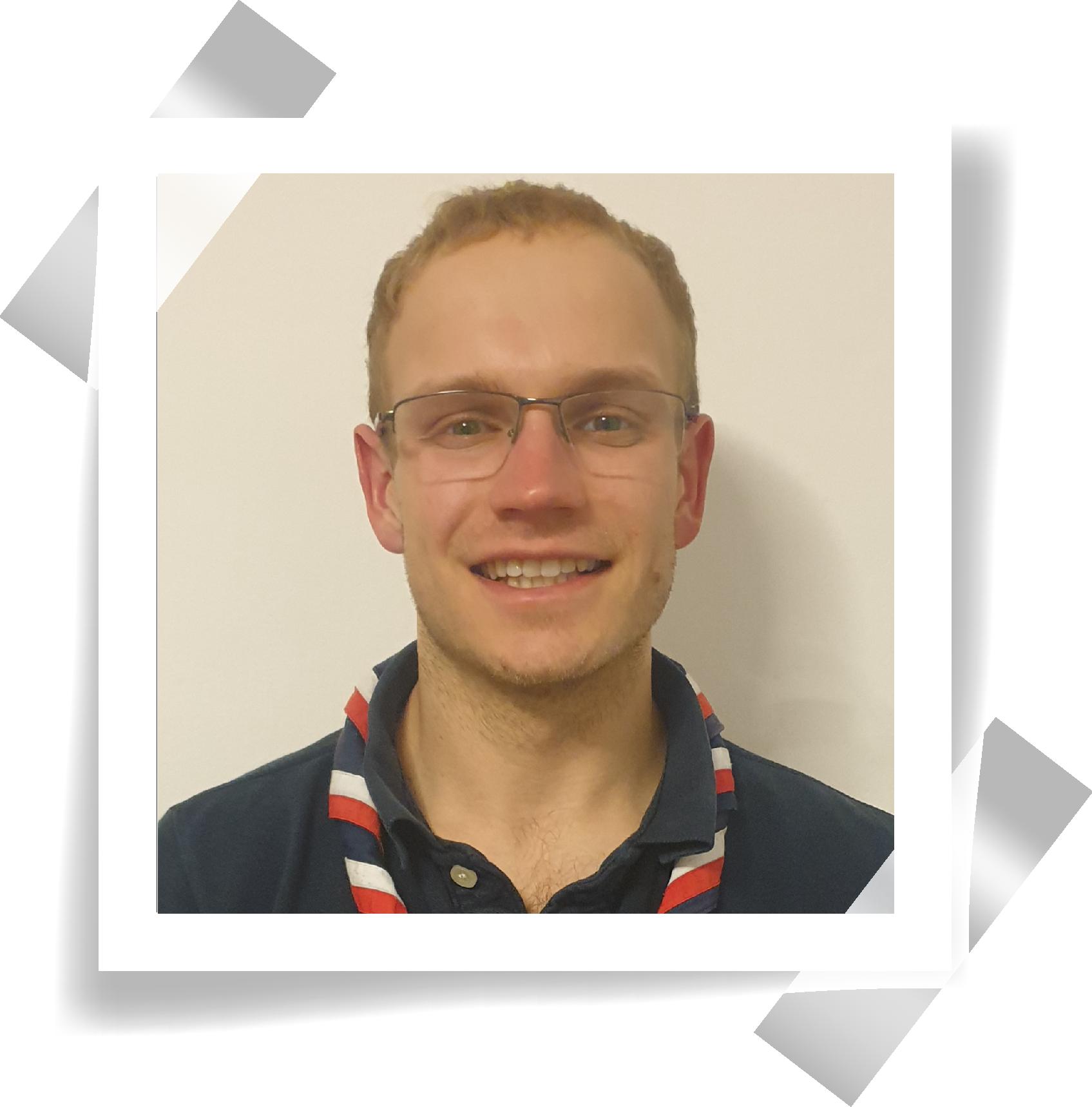 A polaroid of UK Explorer Adviser, Jonathan.