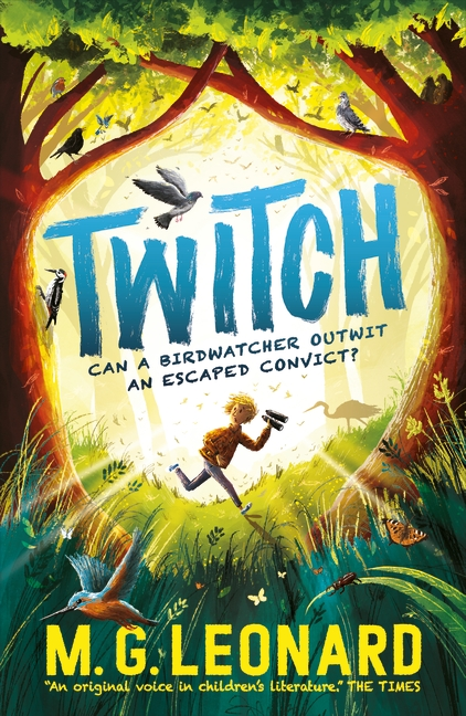 The cover of the book 'Twitch' by M.G. Leonard.