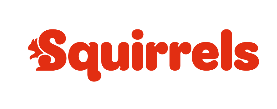 Squirrels logo in red