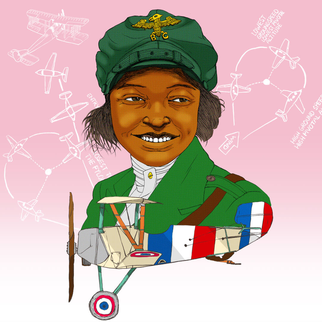 Bessie Coleman - first Black woman to earn an aviation pilot's licence