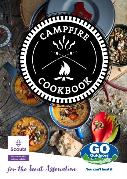 Image of the front page of the Campfire Cookbook