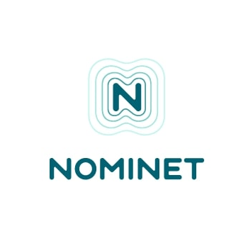 Nominet Logo. N with outline and the word Nominet below
