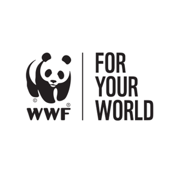 An image of the WWF logo which shows an image of a panda and the words WWF For Your World