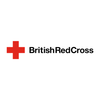 An image of the british red cross logo showing a red cross and the words British Red Cross