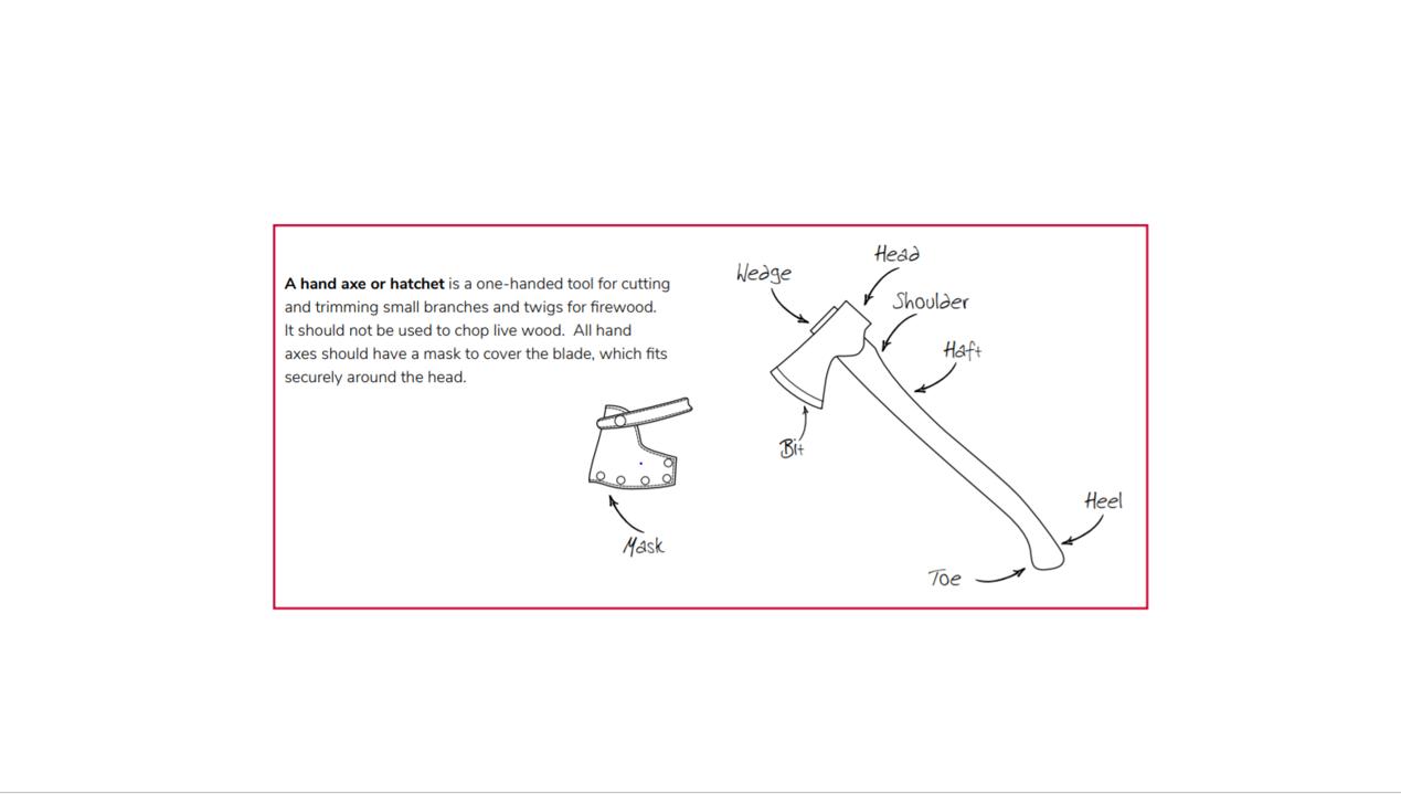 A hand axe or hatchet diagram