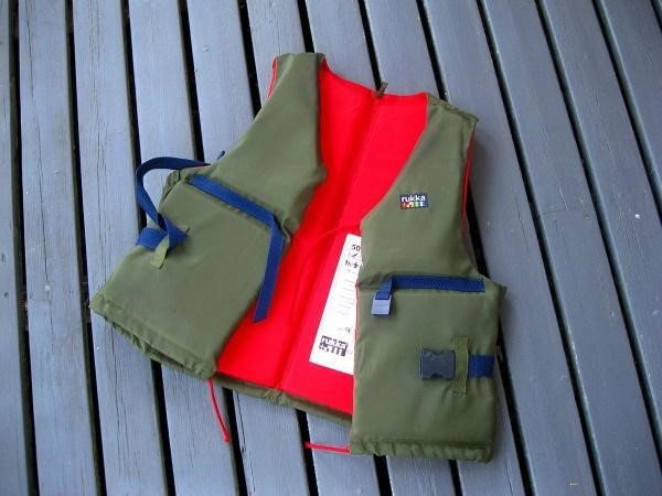 A photograph of a buoyancy aid.