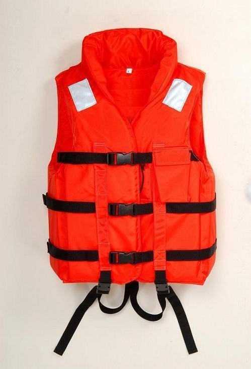 A photograph of a life jacket.